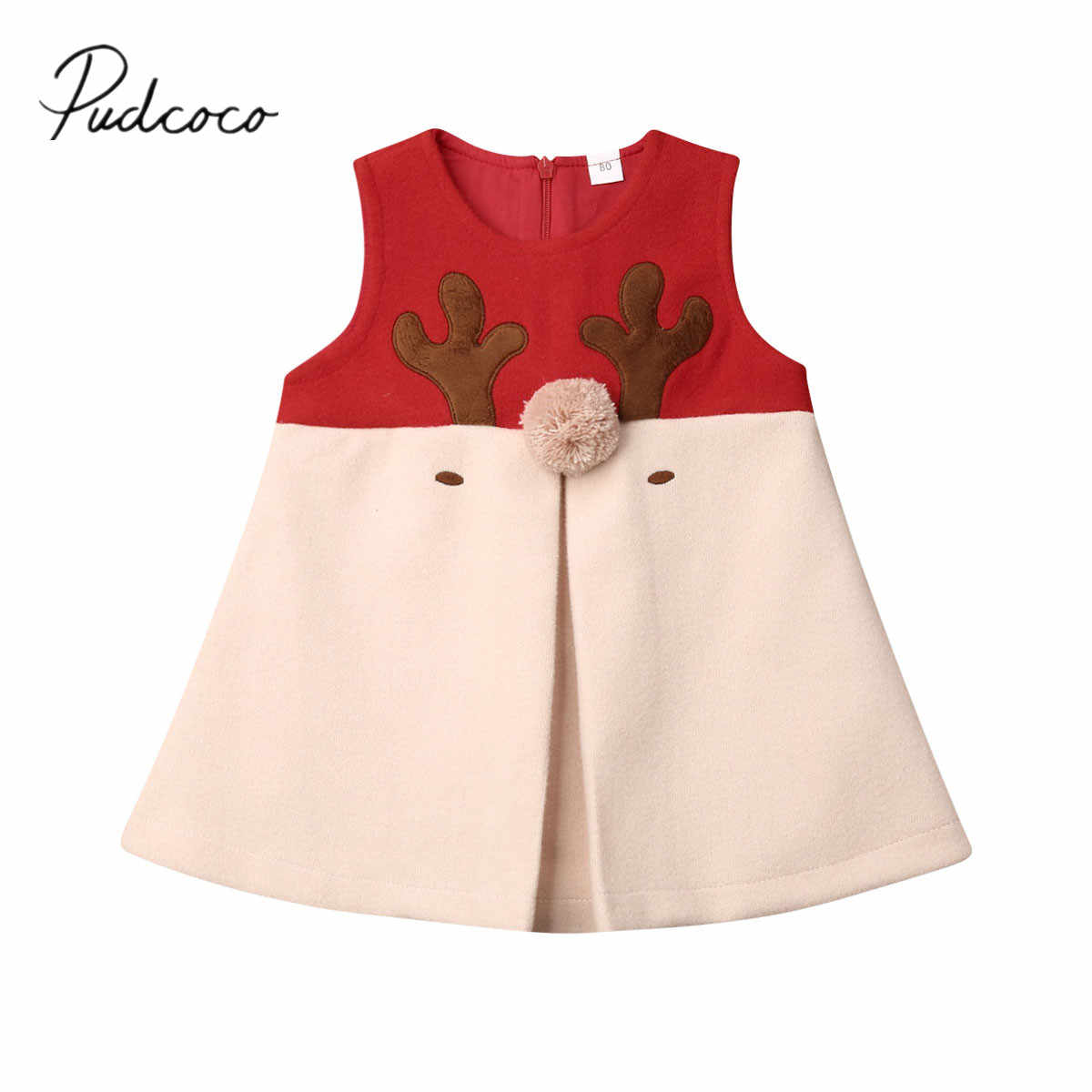 2019 Baby Spring Summer Clothing Newborn Baby Girls Kids Hairy Christmas Xmas Vest Antlers Tops Cotton Wood Elk Clothes 1-5T