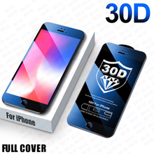 30D Full Cover Protective glass on For iPhone 8 6 6s 7 Plus SE Screen Protector iPhone 11 Pro Max Tempered glass on Xr X Xs Max