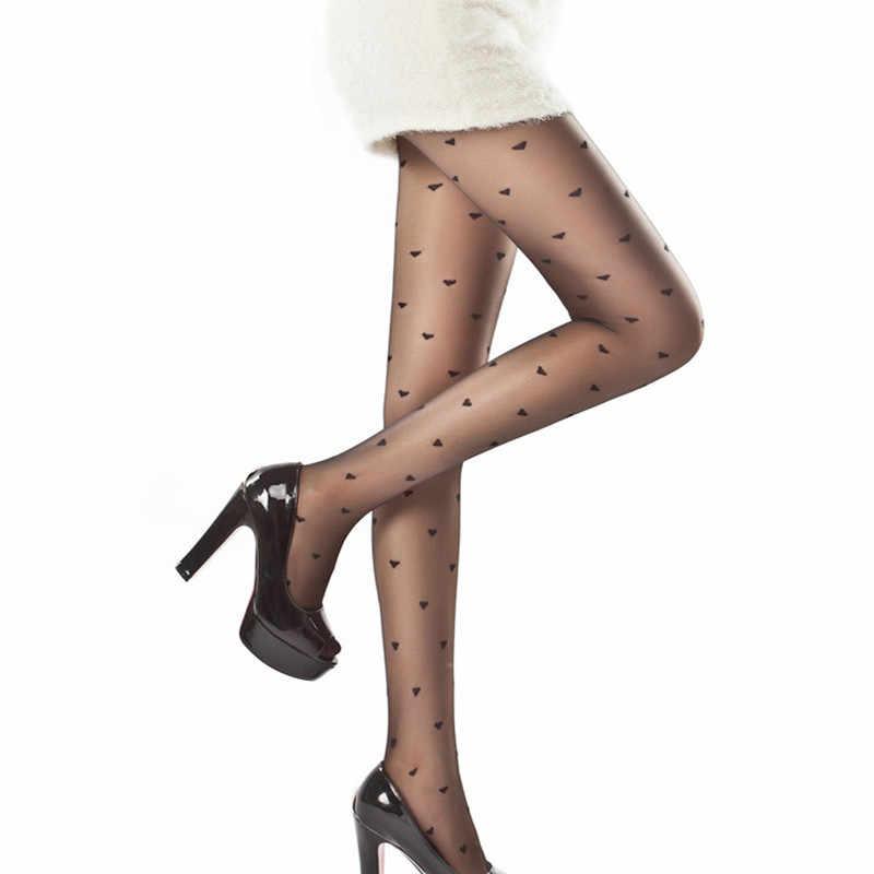 Calças Justas das mulheres Clássico Pequeno Polka Dot Meias De Seda. Fino Senhora Do Falso Do Vintage Meias Tatuagem Meia-calça Meias Femininas