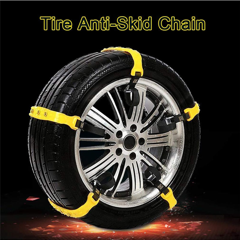 10Pcs Winter Car Tire Snow Chains Adjustable Anti-skid Safety Double Snap Skid Wheel TPU Chain For Truck Car SUV VAN Wheel Belt
