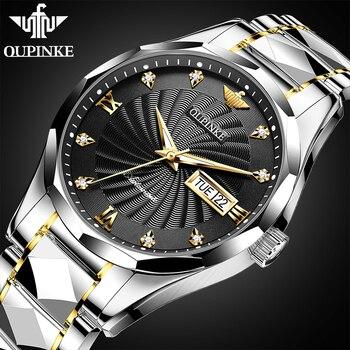 цена OUPINKE 2020 Fashion Mens Watches Top Brand Luxury Sports Business Automatic Watch Men Mechanical wrist watch Relogio Masculino онлайн в 2017 году