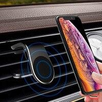 Soporte magnético de teléfono para coche, Clip de rejilla de ventilación para iPhone 11, 12, Samsung S10, S9, GPS, Metal