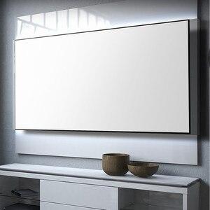 Прозрачный Проекционный экран с тканым акустическим звуком и узкой рамкой из алюминиевого сплава для домашнего кинотеатра 4K/3D Full HD