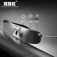 Polarized Photochromic Sunglasses Men Driving Rectangle Chameleon Change Color Sun Glasses Day Night Vision Anti Glare Goggles