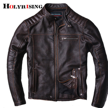 Novo estilo quente roupas dos homens motociclista do motor jaquetas de couro homem preto jaqueta de couro genuíno 18664 5