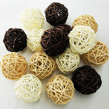 Ротанговые плетеные тростниковые шары диаметром 5 см для сада патио, свадебные, вечерние украшения, DIY для тайского стиля гирлянды