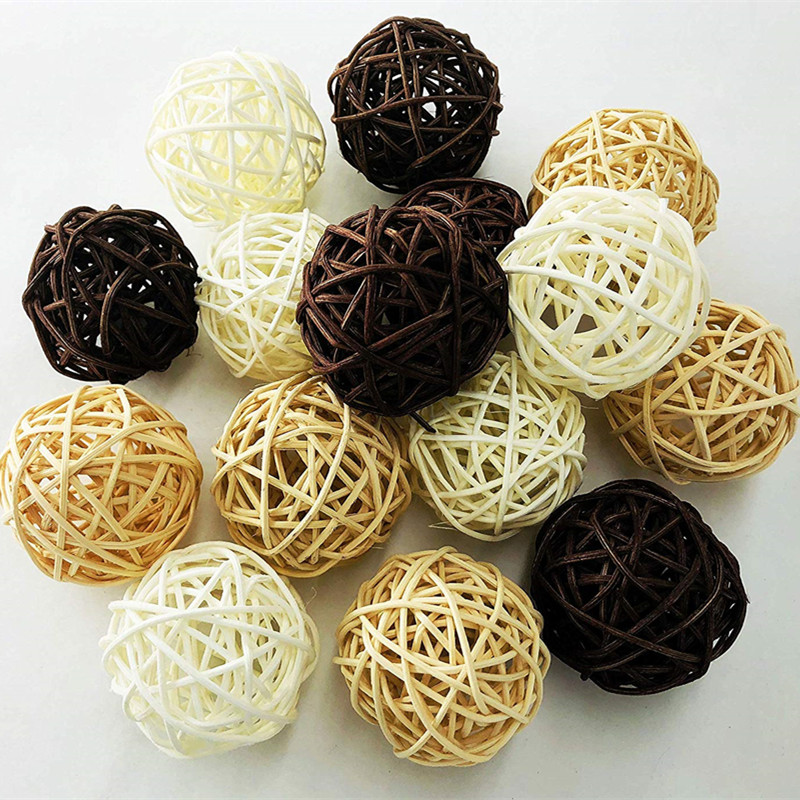 Rattan Wicker Cane dia 5cm Balls for Garden Patio Wedding Party decoration  DIY for Thailand style string lights|balls for|ball ball|dia dia - title=