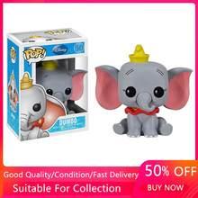Funko pop amine disney filme dos desenhos animados dumbo elefante #50 figuras de ação pvc coleção modelo brinquedos para crianças presente natal