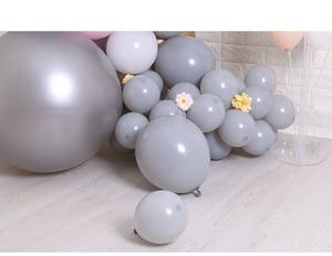 Image 3 - 125PCS 5/10/18 inch macarons grey balloon gold 4d balloon garland set wedding decoration birthday party