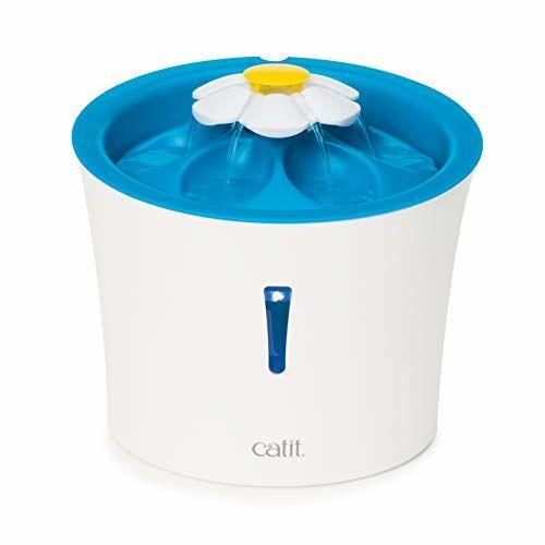 Catit 43747w - Fontana Per Gatti A Forma Di Fiore Con LED, 3 L