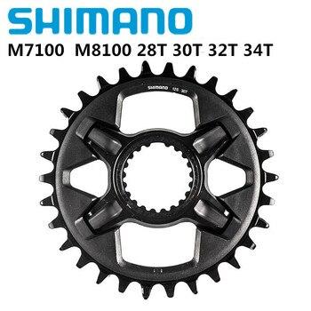 цена на Shimano CRM75 Chainring For SLX M7100 M8100 12 Speed Bike Bicycle Parts Gear Crankset 30T 32T 34T SM-CRM75 Crown 12s Bike Star