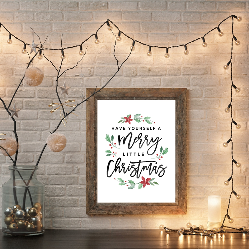 Christmas-Decorations-Merry-Christmas-Poster-Prints-Have-yourself-a-Merry-Little-Christmas-Quote-Canvas-Painting-Holiday