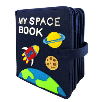 DIY Felt My Space Book Montessori Kid's Early Education Quiet Book 21X25CM Mom Sewing Picture Book Handmade Baby Book Craft Kits