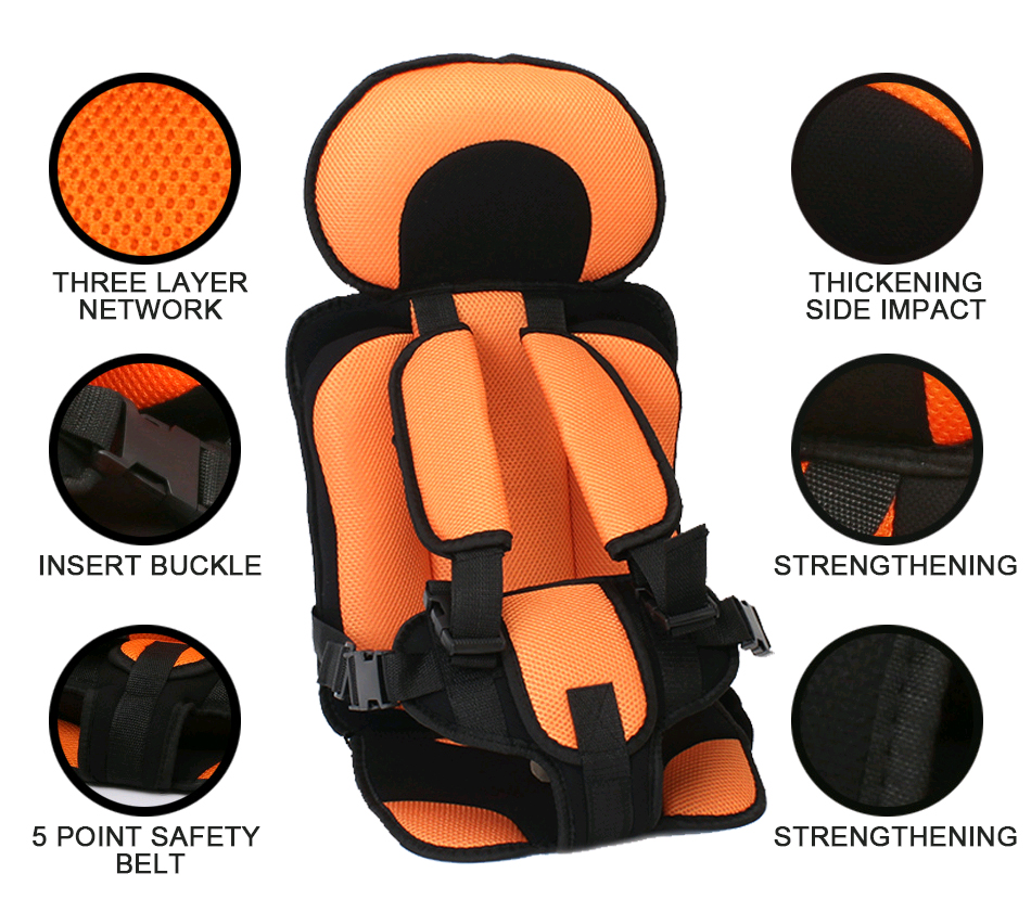 Baby Safety Car Seat Bag Chair Pection Booster Portable Infant Feeding Chair Sofa Children Car Seats Adjustable Baby Seating
