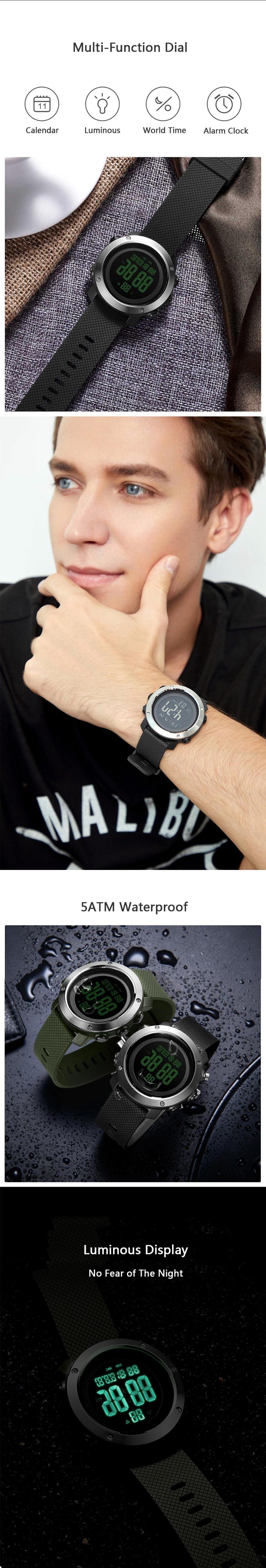Xiaomi ALIFIT Digital Watches Multifunctional Outdoor Waterproof Noctilucent Display Calender Alarm Countdown Sports Watch (1)