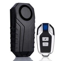 Bezprzewodowy przed kradzieżą Alarm wibracyjny 113dB dla Xiaomi M365 skuter elektryczny rower motocykl motor Alarm bezpieczeństwa z pilotem w Akcesoria do rowerów elektrycznych od Sport i rozrywka na