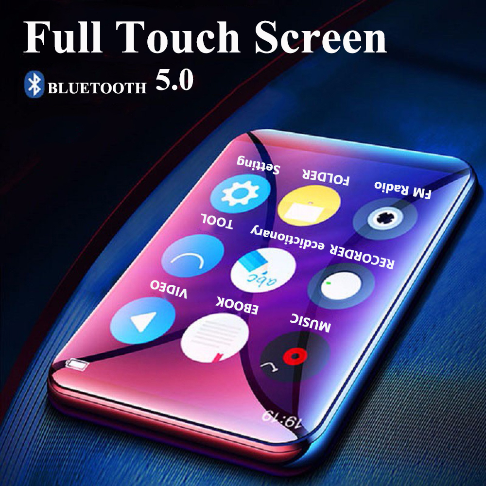 New Bluetooth5.0 Mp3 Player With Speaker 2.5inch Full Touch Screen 16GB E-book FM Radio HiFi Bluetooth Lossless Music Video