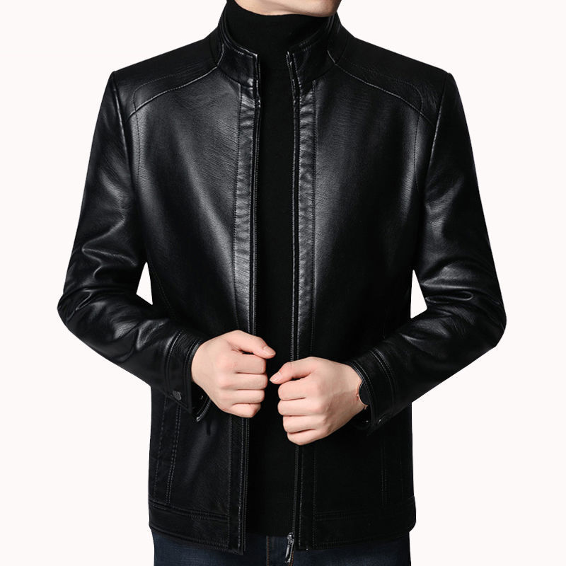 Brand Men Jacket 2020 New Spring Fall Soft Leather Jackets For Man Clothing Long Sleeves Coat Fashion Korean Style Thin Clothing