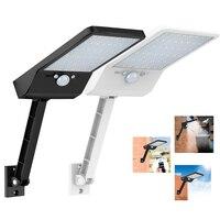 48 LED 800 LM lampada da parete per strada a energia solare per esterni sensore di movimento PIR sicurezza del giardino garage impermeabile con telecomando w