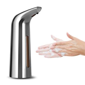 Automatyczny dozownik mydła pompa 400ML Auto Hand Cleaner inteligentny czujnik indukcyjny bezdotykowy dozownik do mycia rąk tanie i dobre opinie conpu CN (pochodzenie) plastic GM-S1805B-Metal 0 26s rapid foaming Intelligent sensing 99 9 effective antibacterial activity