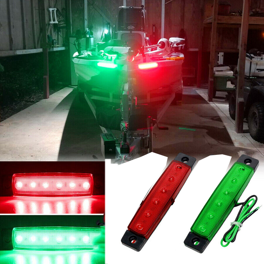 Waterproof LED  Marine Led Light Courtesy & Utility Strip Navigation Light For Boats 12 Volts RED /GBREEN  (Pair Of 2)