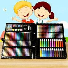 Детский набор инструментов для рисования, кисточка, Подарочная коробка, для начальной школы, акварельная живопись, художественные Обучающие принадлежности, подарок на день рождения, товары для рукоделия