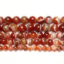 Cuentas redondas sueltas de Sardonyx, piedra Natural de calidad AAAA, color rojo, 6, 8, 10, 12MM, tamaño a elegir