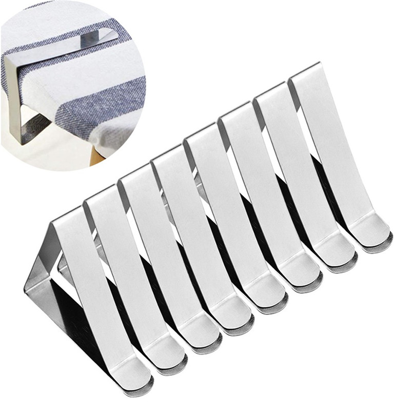 8PC Stainless Steel Tablecloth Clamp Table Cover Clips Tablecloth Fixed Clips Tablecloth Clamp Home Decoration 30NOV1803