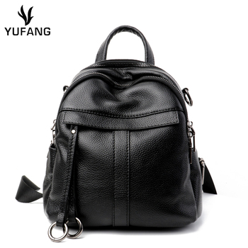 YUFANG High Quality Genuine Leather Backpack Woman New Arrival Female Backpack Large Capacity School Bag Mochila Feminina
