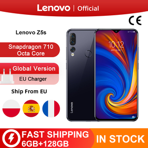 Image 1 - Global Version Lenovo Z5s Snapdragon 710 Octa Core 6GB 128GB Mobile Phone 6.3 inch Android P Triple Rear Camera Smartphone