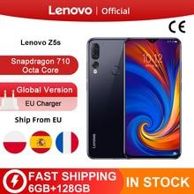 الإصدار العالمي من هاتف Lenovo Z5s سنابدراجون 710 ثماني النواة 6GB 128GB الهاتف المحمول 6.3 بوصة أندرويد P الثلاثي الكاميرا الخلفية الهاتف الذكي