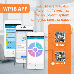 Image 5 - KERUI W18 WIFI GSM система охранной сигнализации автоматический циферблат 6 назначенный телефон приложение управление Настройка детектор движения датчик охранной сигнализации