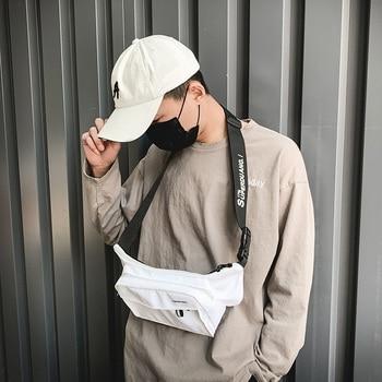 Hot Fashion Men Waist Bag Multifunctional Leisure Nylon Chest  Bags  Travel Reflective Belt  Wallet Mobile Phone Pocket Hip Bags