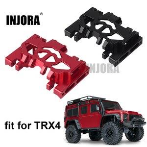 Image 1 - INJORA 1PCS אלומיניום מתכת תיבת הילוכים הר מחזיק עבור 1/10 RC Crawler TRAXXAS TRX4 TRX 4