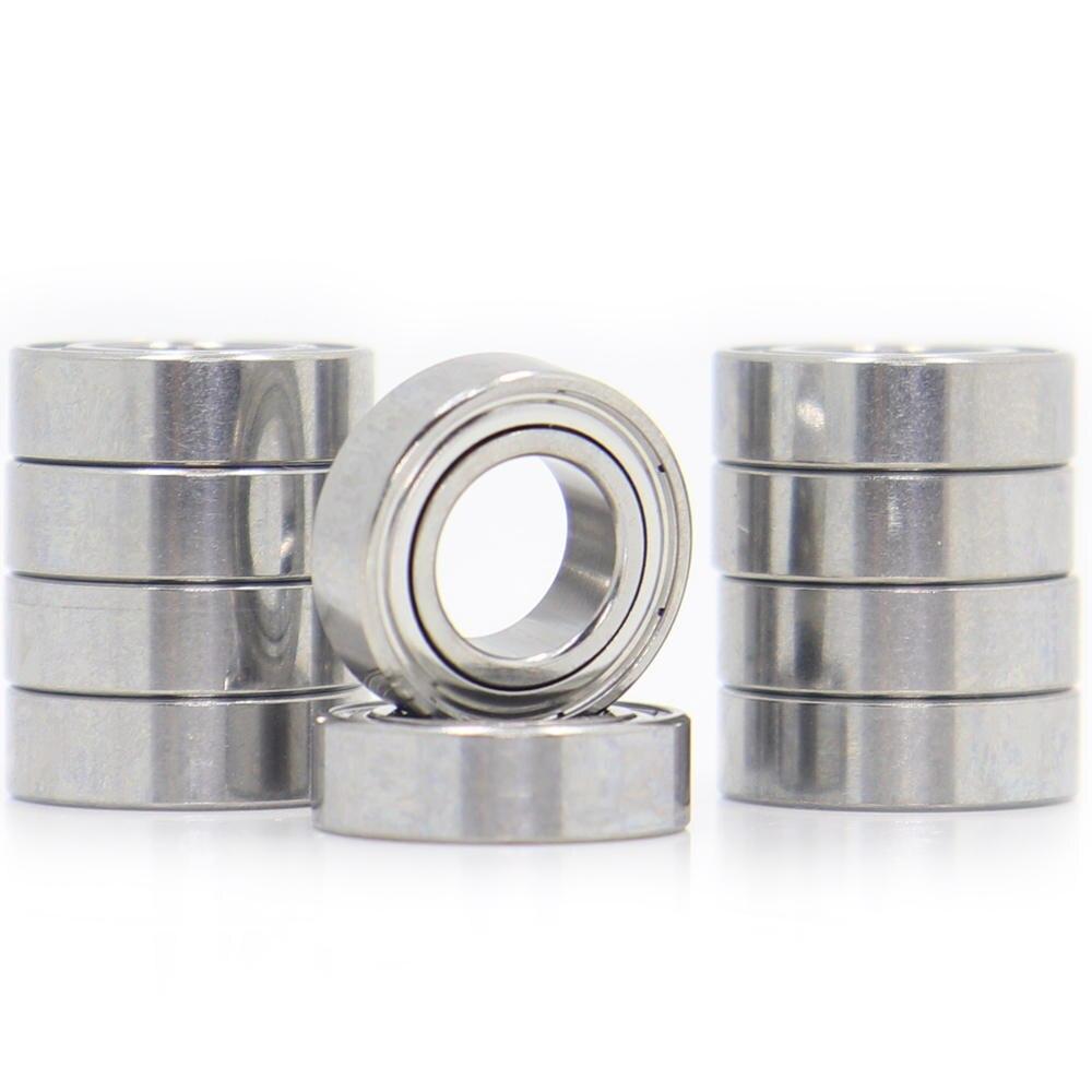 Ball-Bearing L-1370ZZ Miniature ABEC-5 Chrome-Steel 10pcs MR137ZZ 7x13x4-Mm Metric
