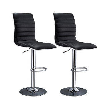 2pcs Soft high back PU Leather Bar Stool Home Kitchen Breakfast Pub Bar Stools With Footrest Barber Shop Chair Deliver to Europe