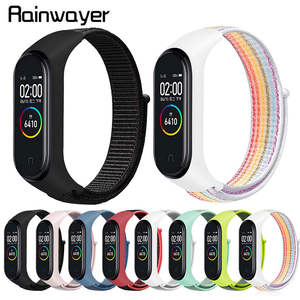 Nylon-Strap Bracelet Wristband Xiaomi Breathable Colorful 3-4-Replacement