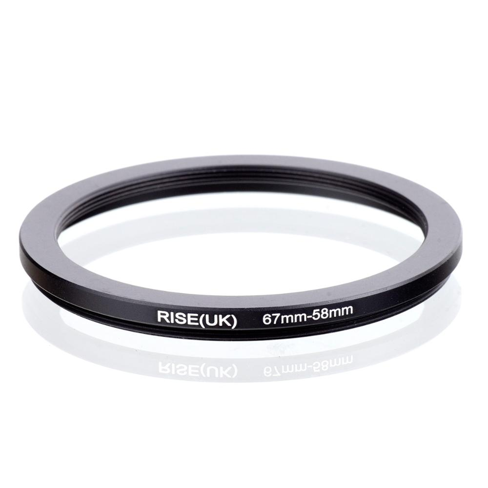 RISE(UK) 67mm-58mm 67-58 Mm 67 To 58 Step Down Filter Ring Adapter