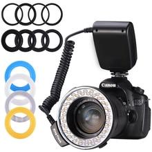 Buy MAMEN LDE Macro Ring Flash Bundle Speedlight Speedlite For Canon Nikon Fujifilm Olympus Pentax DSLR Camera Photo RingFlash Light directly from merchant!
