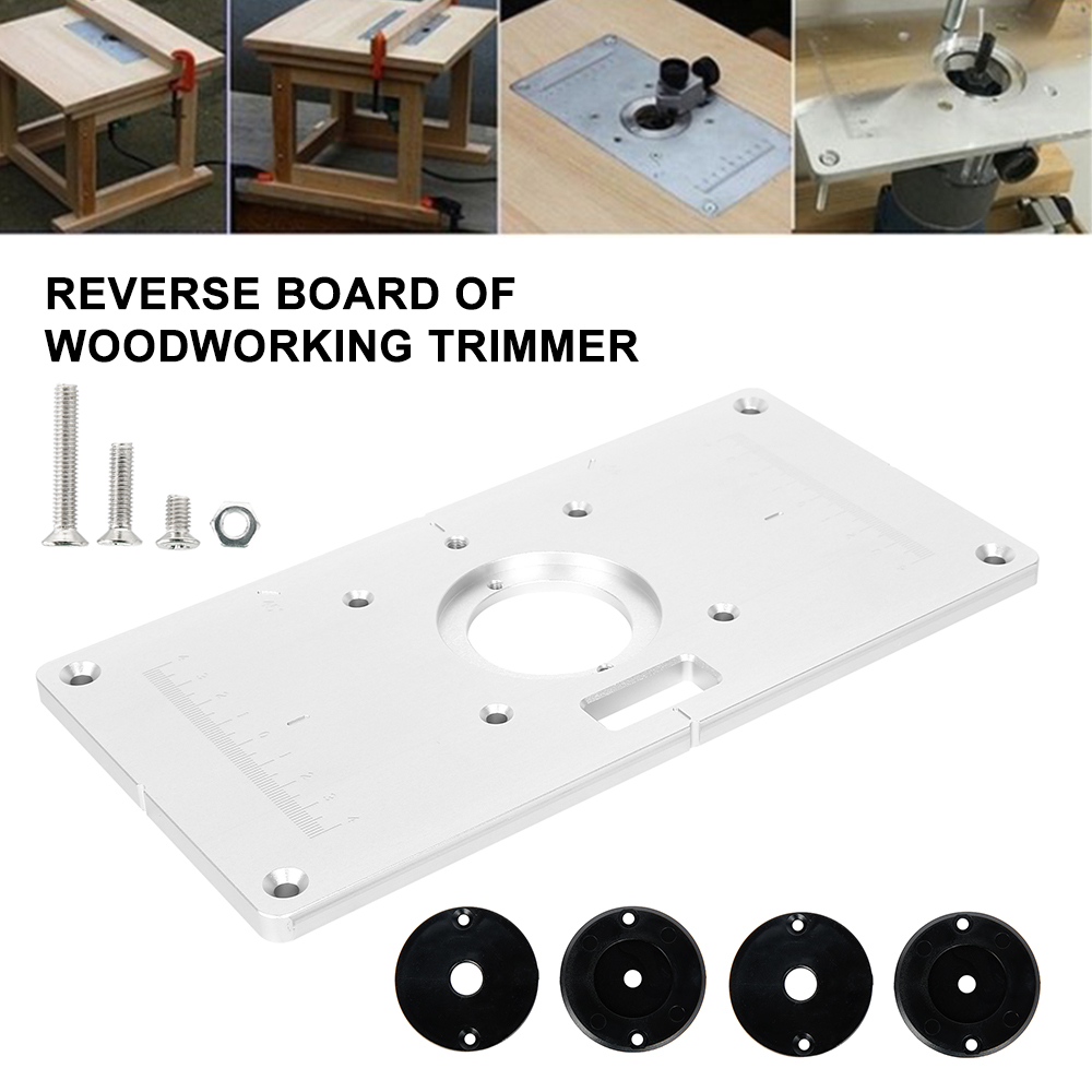 Electric Wood Milling Trimming Machine Aluminum Alloy Flip Plate Engraving Machine Electric Wood Milling Woodworking Work Bench
