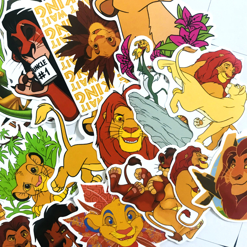 50 Pcs/set The Lion King PVC Waterproof Fun Sticker Toy Luggage Sticker Motorcycle And Luggage Notebook Sticker