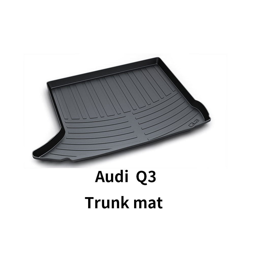 Black Heavy Duty Cargo Floor Mat-All Weather Trunk Protection, Durable HD TPO Fit For Audi Q3 09-19