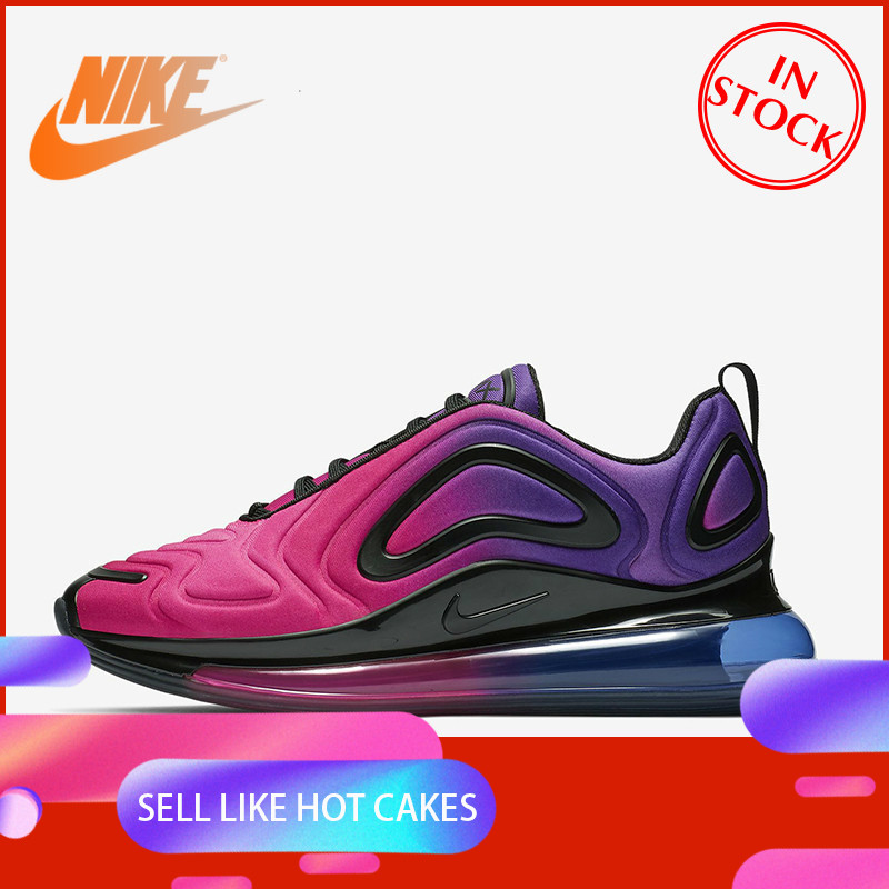 Original Authentic Nike Air Max 720 Running Shoes Women's Breathable Sports Shoes New Color Matching New Products AR9293-500