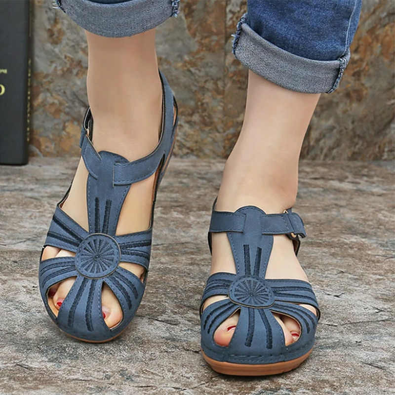 ผู้หญิงรองเท้าแตะ 2020 ฤดูร้อนใหม่รองเท้าผู้หญิงด้านล่างนุ่ม Wedges รองเท้าผู้หญิงรองเท้าแตะรองเท้าส้นสูง Gladiator Sandalias Mujer