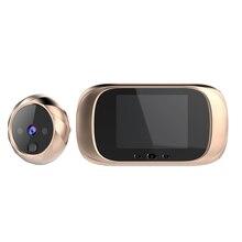 2.8 インチデジタルドアベル 90 度液晶画面ドアベル電子ピープドア 0.3MP カメラビューア屋外ドアベル