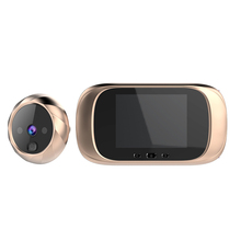 Campainha digital de 2.8 polegadas, tela lcd 90 graus, olhal da porta, campanhia eletrônica, olho mágico, porta, câmera de 0.3mp, visor, para fora, campainha