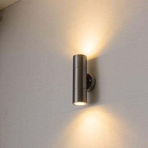 aco inoxidavel exterior led wall arandelas lampada