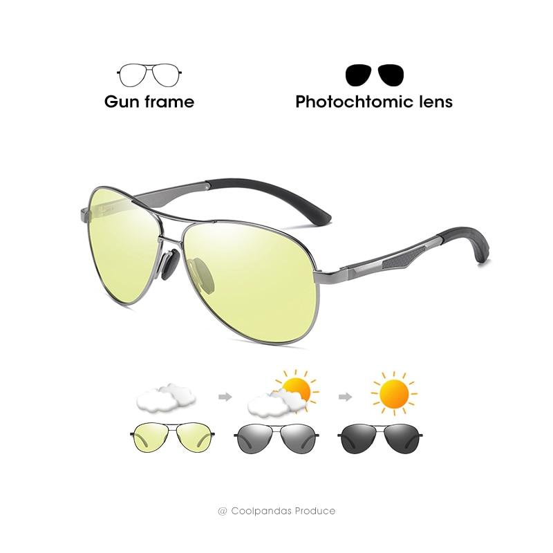 2020 Aviation Driving Photochromic Sunglasses Men Polarized Glasses Women Day Night Vision Driver Eyewear UV400 zonnebril heren 12