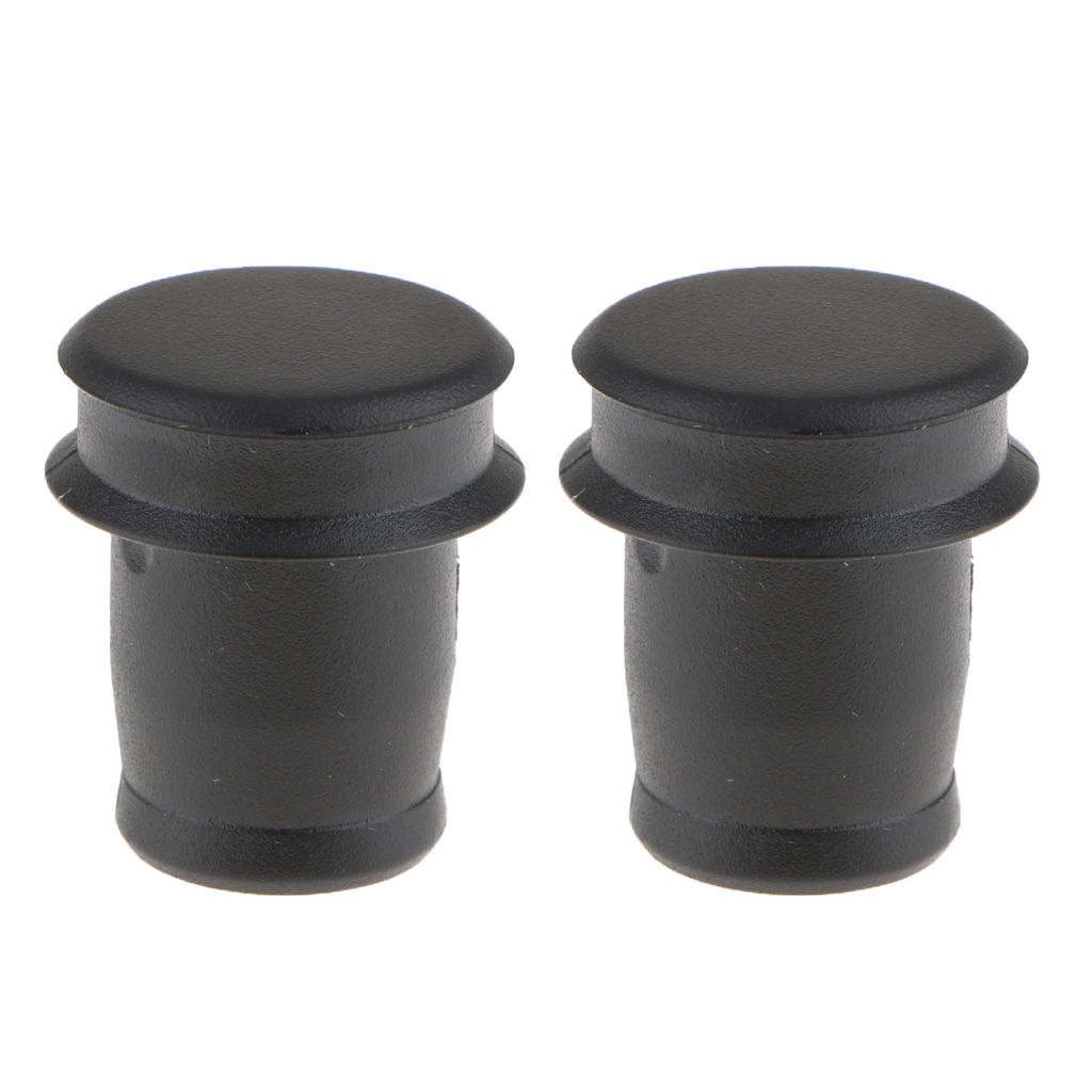 2 Pieces Black Car  Lighter Plug Cover Cap Shield Full Protection For BMW