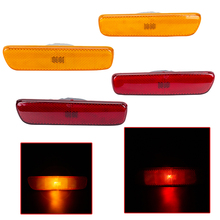 Car Side Marker Light Front/Rear Bumper Turn Signal Lamp Red/Yellow Corner Light For Lexus RX300 1999-2003 2002 2001 for toyota prado fj120 lc120 2700 4000 back side bumper light 2003 2008 red color